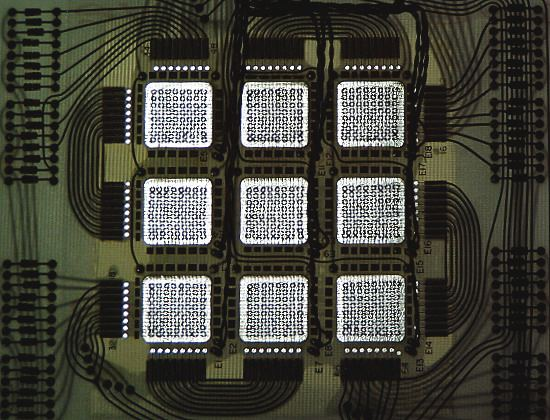 A core memory built onto a modul from the UNIVAC 9400 mainframe